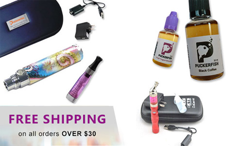 Shop online at www.puckerfishvape.com